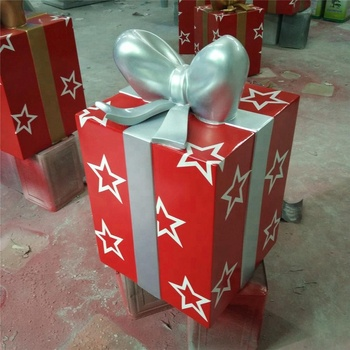 large fiberglass christmas gift boxes decorations holiday gift boxes decoration - Large Christmas Gift Boxes