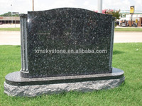 Column Serie Good Quality Serp Top Blue Pearl Granite Headstone