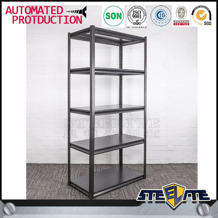 home use light duty slotted angle metal storage shelving. Black Bedroom Furniture Sets. Home Design Ideas
