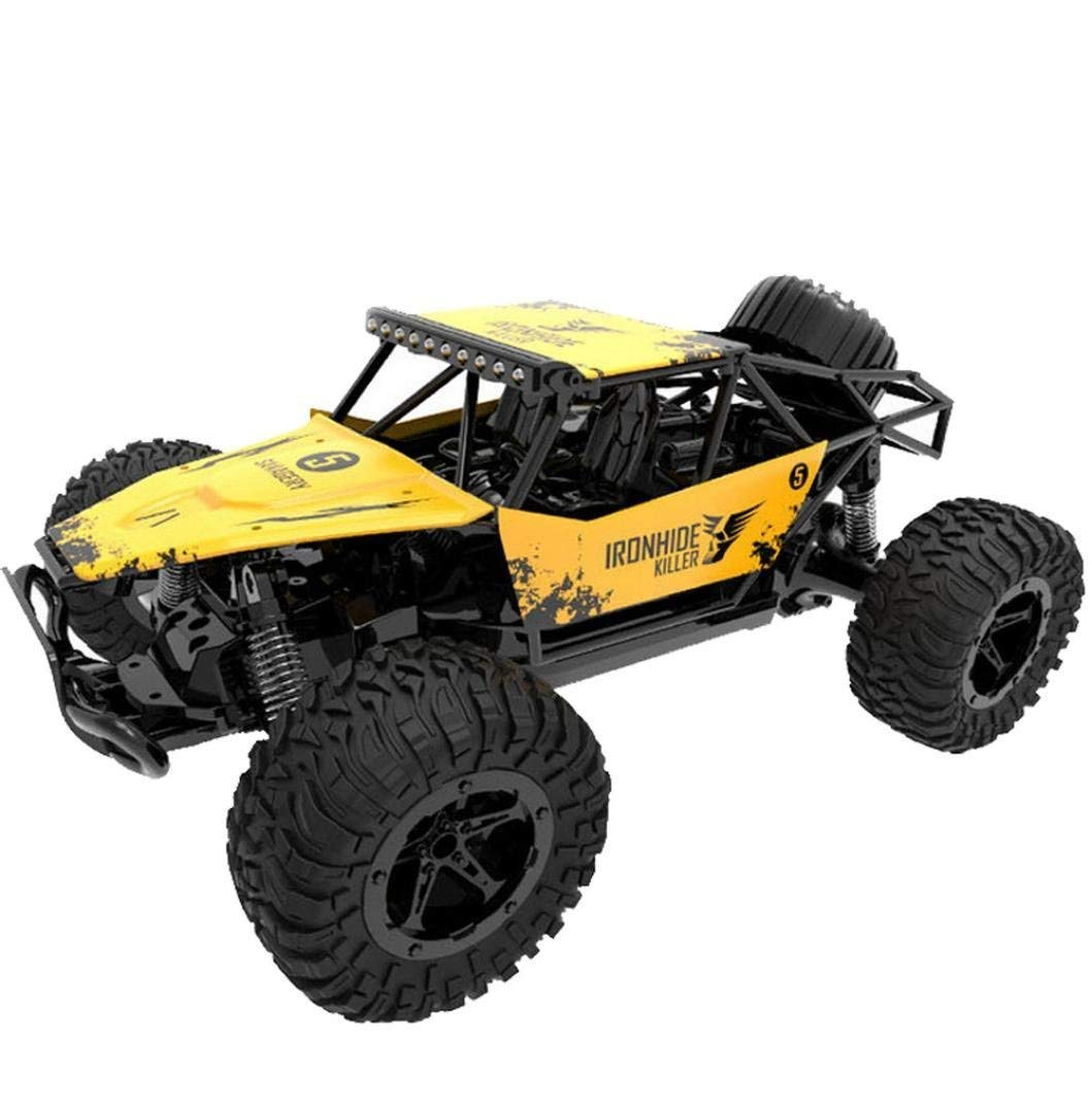 High Speed RC Racing Car,1:16 Scale Car, 2WD 2.4GHZ Radio Remote Control Off Road RC RTR Racing Car Truck Buggy Toys Vehicle Electric Cars Gift for Boys (Yellow)