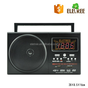 HiFi 4 band Portable FM/AM/SW1-2 Radio with digital screen EL-7380UAR