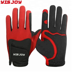 Custom Logo Red Premium Cabretta Leather Golf gloves With Lowest Price