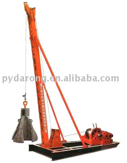 electric pile driver (piling machine, auto pile driver) for hill rock