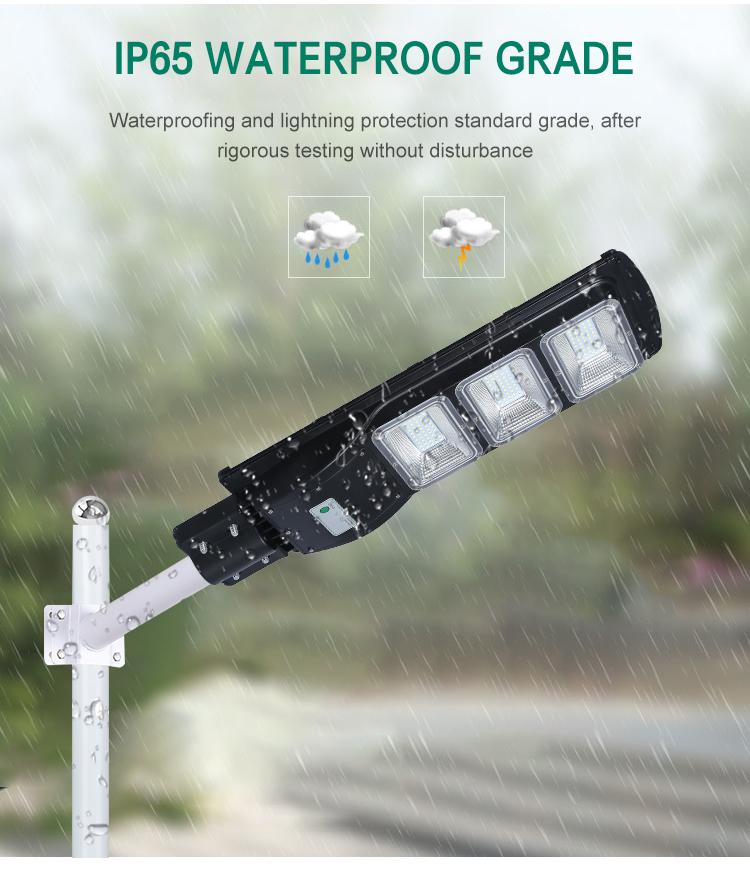 De alta potencia IP65 al aire libre a prueba de agua 60w control remoto integratied todo en una farola led solar