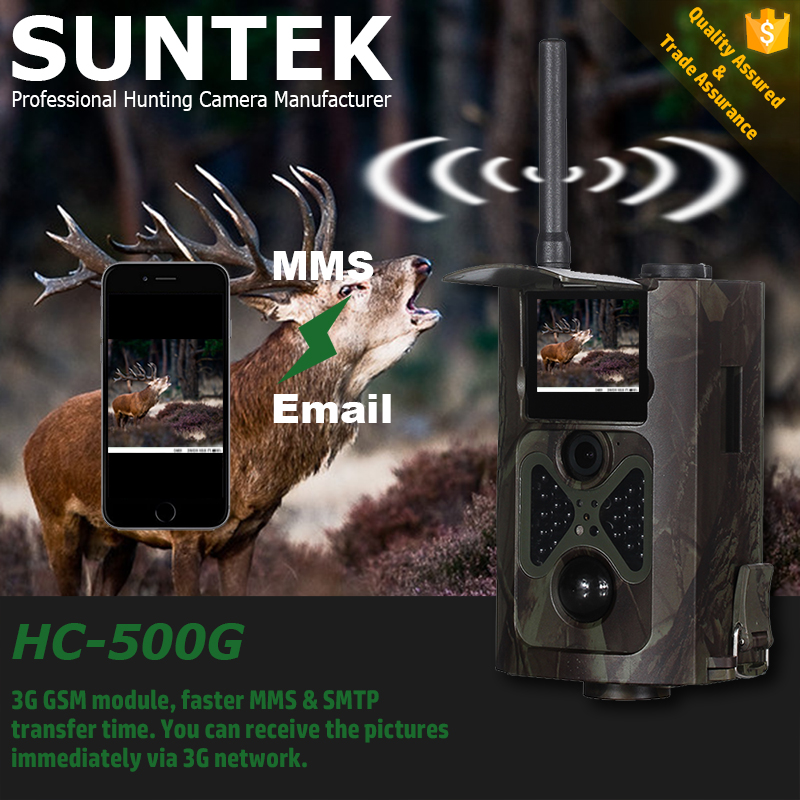 2016 New Arrival 3G GSM MMS SMTP Email Hot Sale Infrared Hunting Trail Game Camera