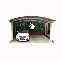 M Shape Outdoor Aluminium/Solid PC Carport/Garages for sale