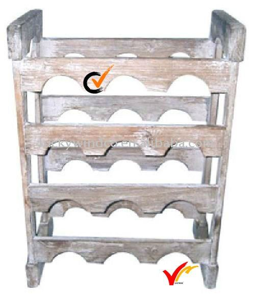 Shabby Chic Box Wine Rack Corner