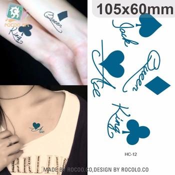 Hc12moda Cuerpo Arte Pegatinas Extraíble Impermeable Tatuaje