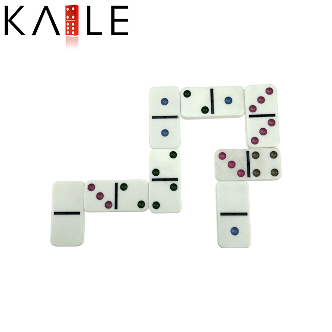 Hot selling Domino blokken spel set met kleur stippen