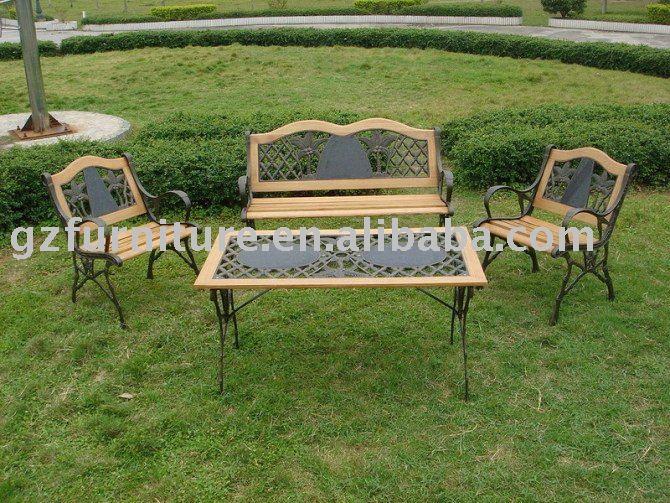 Banco banco de jard n banco del parque hierro fundido outdoor muebles del patio bancos para - Banco jardin barato ...