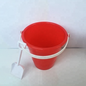 Plastic outdoor Summer Sand Bucket Beach Toys With Shovel For Kids Gift