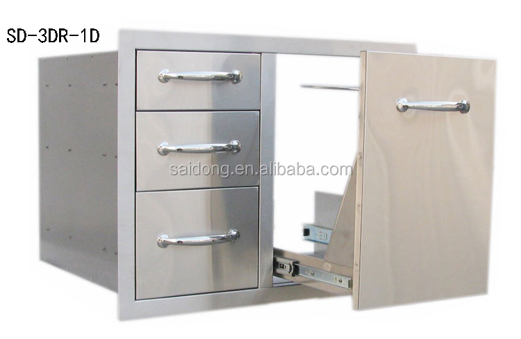 Outdoor Kitchen Components Part - 28: Stainless Steel Outdoor Storage Cabinet BBQ Components Outdoor Kitchen  Cabinet