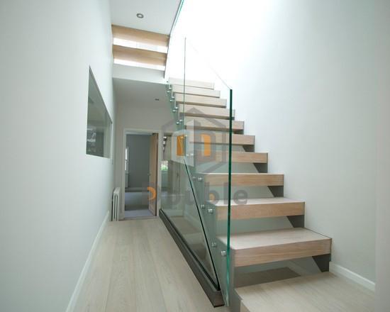 Prefabricated Stairs Steel Wood Stairway