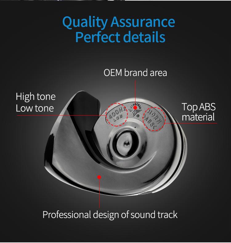 JINGZUAN กันน้ำ 12V รถยนต์ไฟฟ้าแตรเสียงแตรลำโพง tr99 เสียง