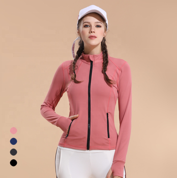 New Arrival women Fitness Jackets, customized sports outfit. Comfortable polyester spandex jackets