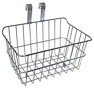 Silver Wald #1512 Drop Top Front Bicycle Handlebar Basket Silver