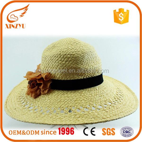c8363e47 Custom Your Own Design Girls Fashion Khaki Raffia Straw Cowboy Hat ...