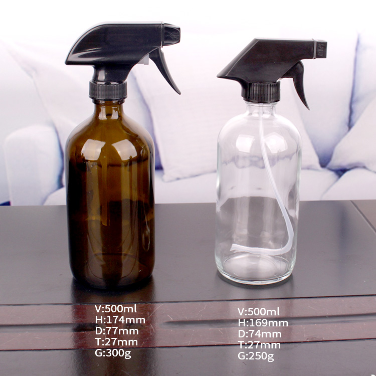wholesale round boston soap glass bottle with dispenser