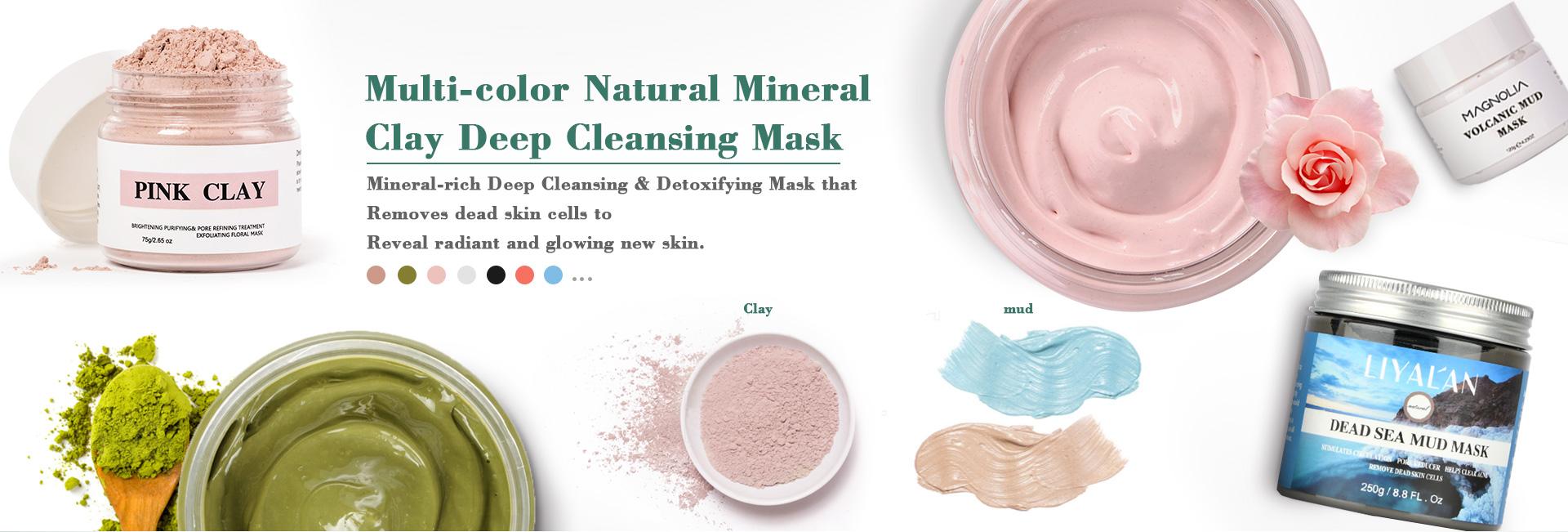 Private Label Organico sbiancamento Della Pelle argilla maschera per il viso