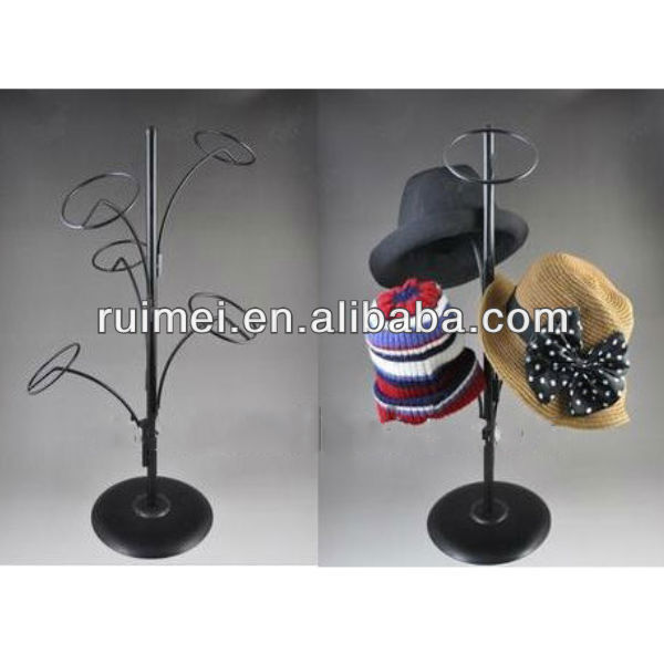 Store Hat Rack Stainless Steel Classic Counters Table Top Hat Stand