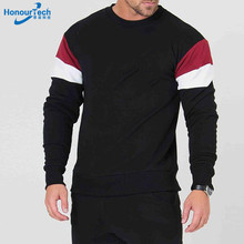 2018 Spring New Wholesale Sports Men's Casual Fitness Long Sleeve Cotton Breathable Sweatshirt