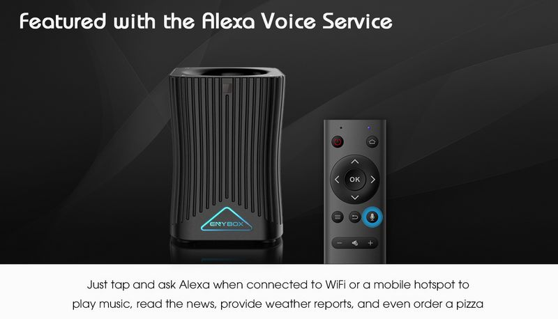 Enybox HF10 similar to Amazon Echo Amazon Echo Dot support Amazon Alexa