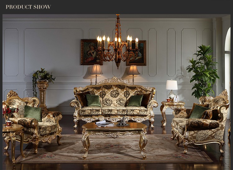 Classic Italian Furniture Royal Gold Leaf Gilding Solid