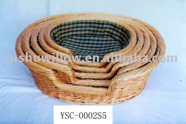 Willow Pet Basket,5 Pcs/set