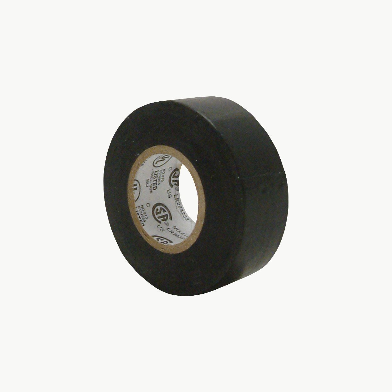 """JVCC E-Tape Small Core Electrical Tape, 30' Length x 3/4"""" Width, Black"""