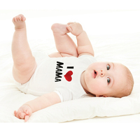 2016 i love mama i love short sleeve papa baby clothing clothes baby rompers