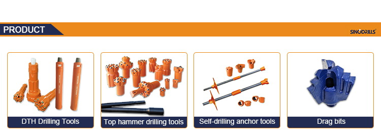 QL40 QL50 QL60 QL80 dth çekiç ve bit kaya delme için, su kuyusu, madencilik