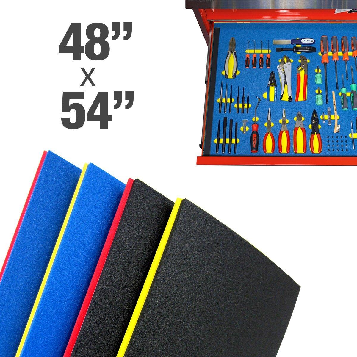 """Foam Custom Tool Kits (48""""x54"""") : Blue (Top) Red (Bottom)"""
