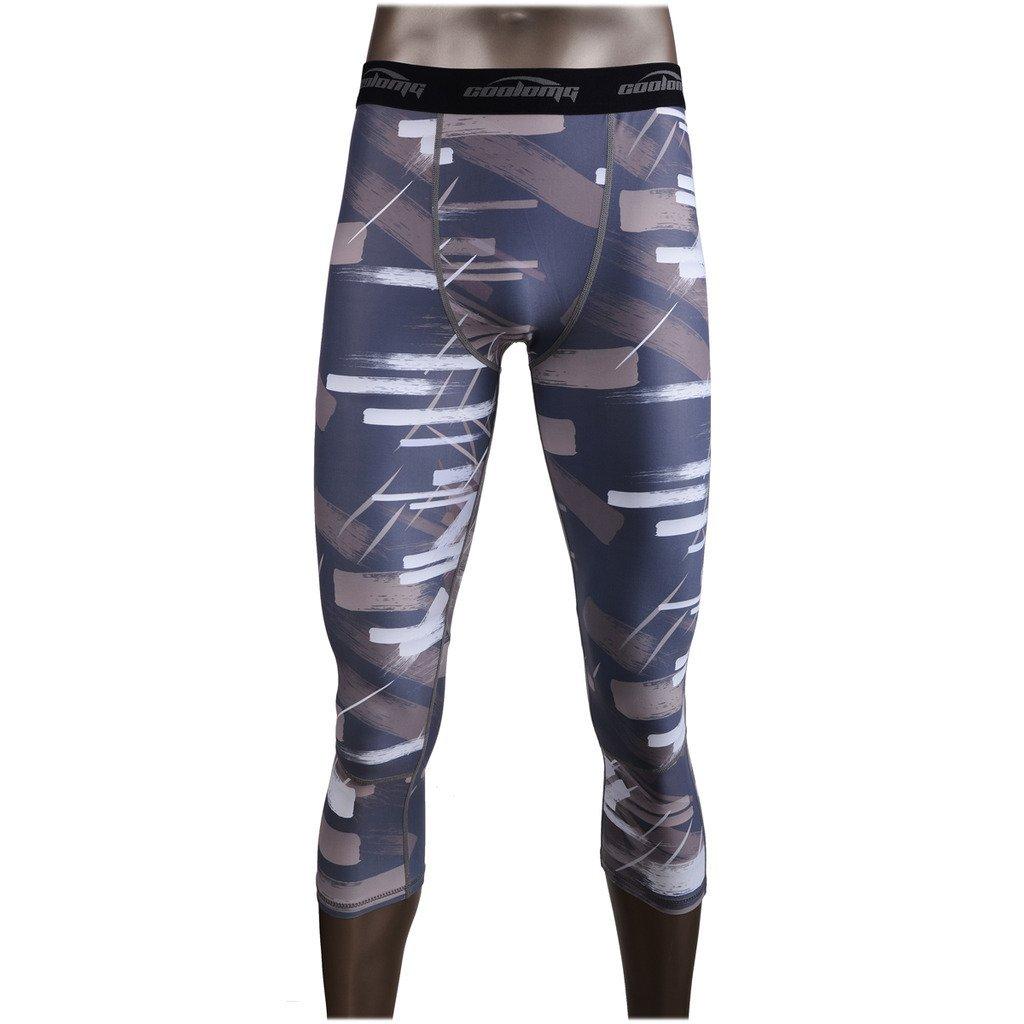 944c48dd8260e Get Quotations · COOLOMG Compression Pants Running Tights 3/4 Tights Capri Pants  Leggings 20+ Colors/