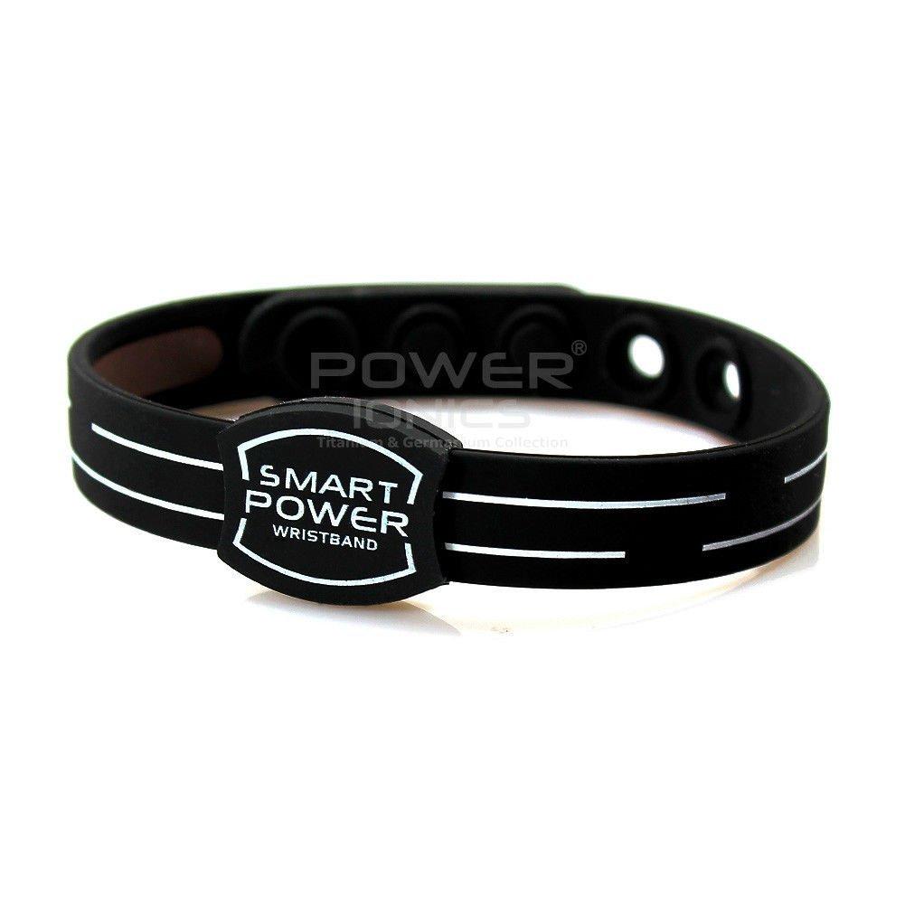 Flamboyantgoods Power Ionics Smart Bracelet Titanium Ion Band Balance Energy Black