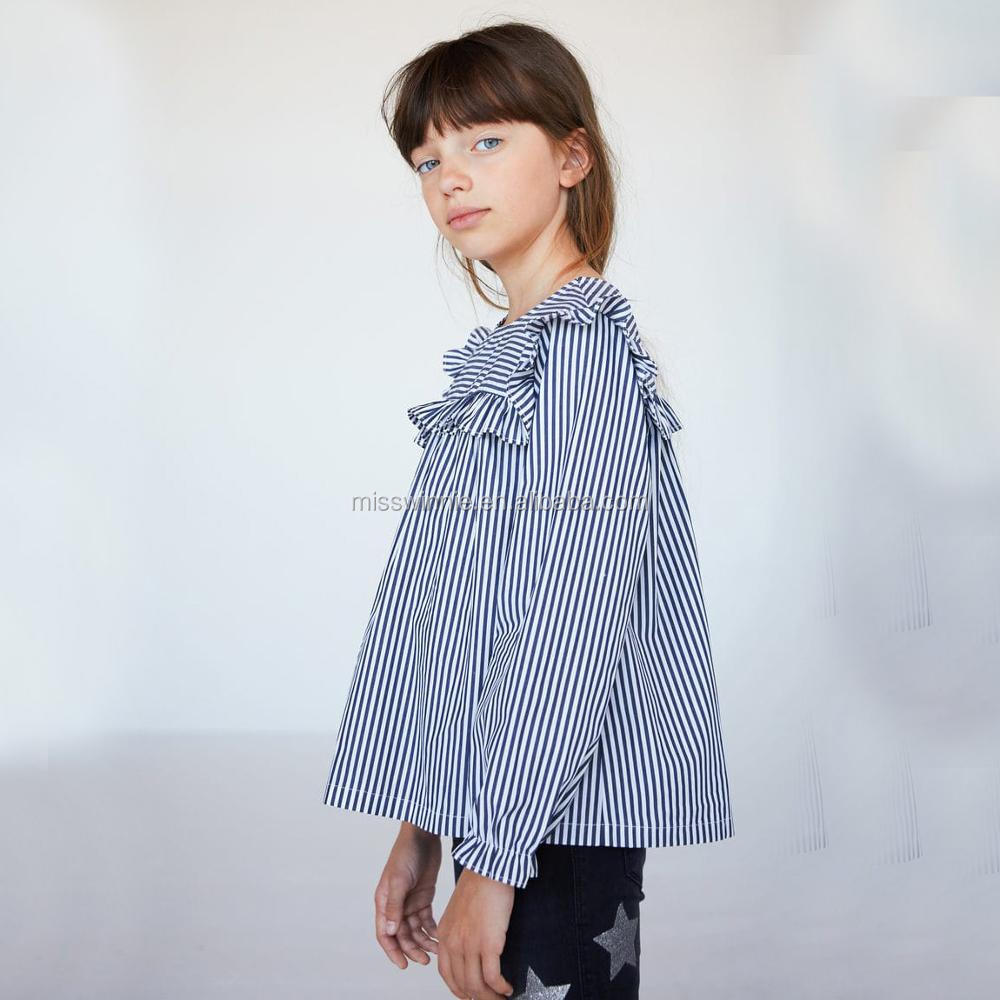 custom new design modern blouses for girls blouse