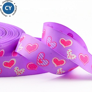 "New arrival wholesale custom printed logo ribbon , 2.5cm 1"" customized colorful grosgrain ribbon for mother/lover"