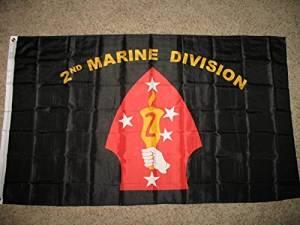 Usmc Marine Marines 2Nd Marine Division Superpoly 3X5 Flag by Usmc Marine Marines 2Nd Marine Division Superpoly 3X5 Flag