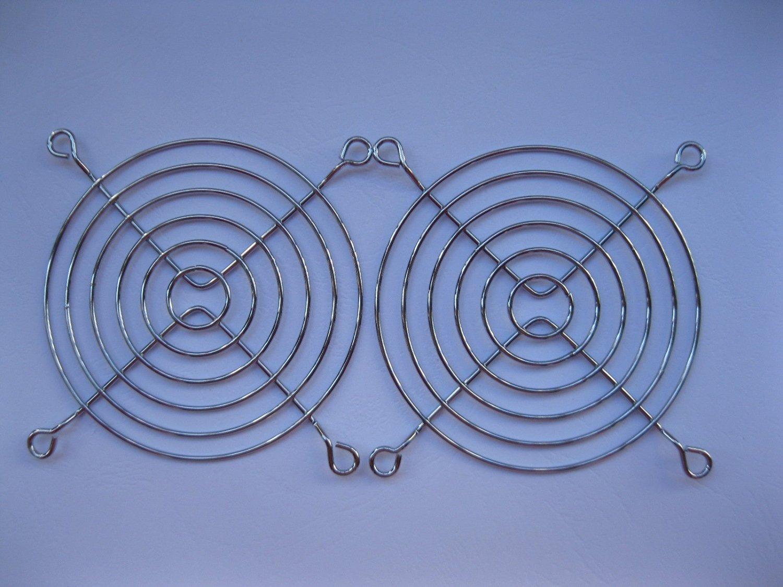 4 Pcs DC Fan Grill Protector Silver Metal Finger Guard Used for 90x90mm Fan 9cm