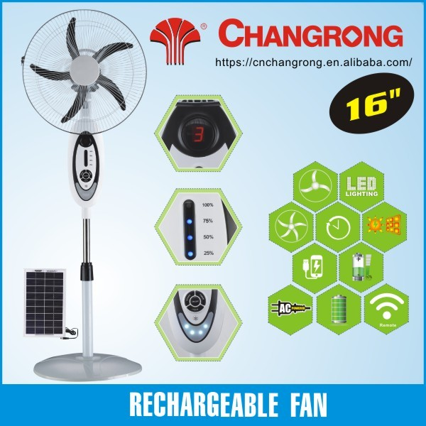 16inch electronic stand fan emergency rechargeable fan