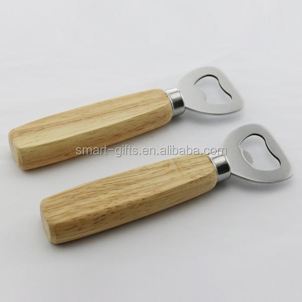 Flesopener houten handvat