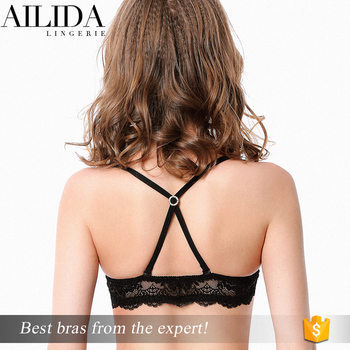 cacc748271e Ailida Top Quality Fantasy Sexy Women Front Open Bra with Cross Back Design
