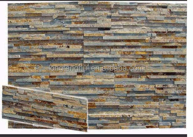 Beautiful villa natural stone culture slate for wall facade