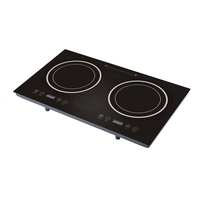 black crystal touch sensor double plate induction burner
