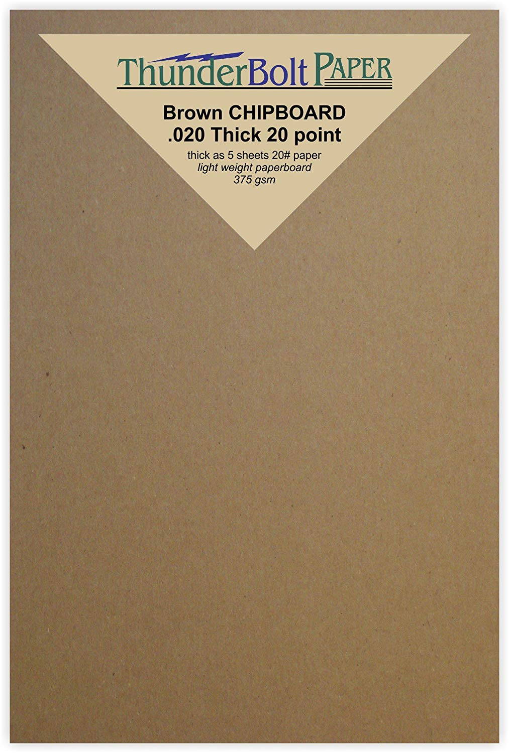 22pt Point .022 Caliper Thick MagicWater Supply Paper Board Light Weight Brown Kraft Cardboard for Scrapbooking /& Picture Frame Backing 100 Chipboard Sheets 8 x 10 inch