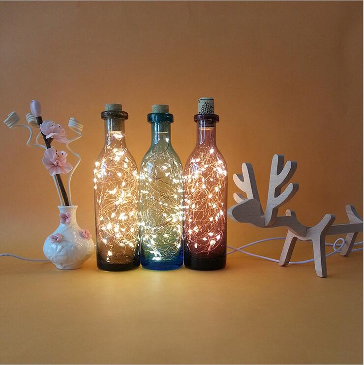 DM 643 Wholesale original unique craft redroom decortion glass bottle reindeer fairy light gift for her christmas gifts