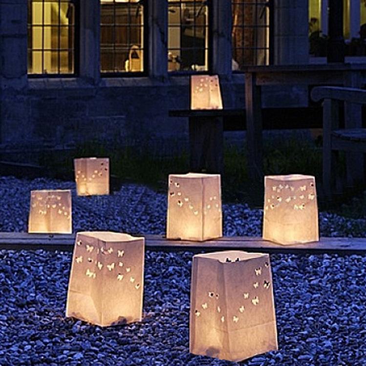 luminaire lanterne cire papier bougie sacs papier brillant sac de bougie bougie bougie. Black Bedroom Furniture Sets. Home Design Ideas