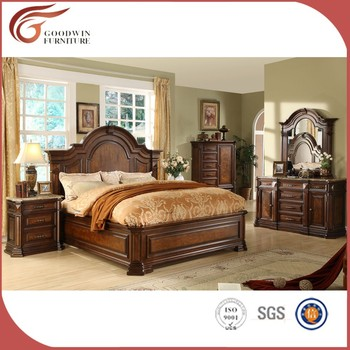 rubber wood classic style bedroom set,royal furniture bedroom set ...