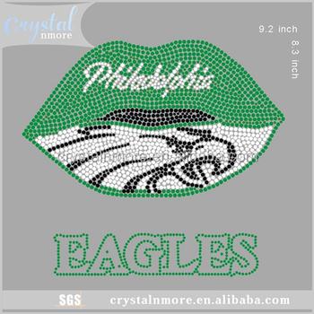 Philadelphia Eagles Rhinestone Iron On Transfer Wholesale For T Shirt - Buy  Philadelphia Eagles Rhinestone Transfer,Eagles Rhinestone Iron On