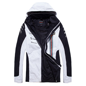 white oem men winter ski hoody softshell jacket windproof leather jacket