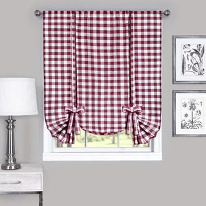 High Quality Ready Made Window Cotton Linen Curtains